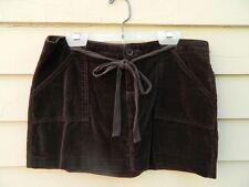 Juicy Couture Brown Cotton Velvet Mini Skirt w/tie Size Jr. Medium (5-7)