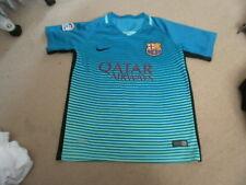Boys Nike BARCELONA FCB MESSI football kit shirt top APPROX age 8-9-10 FREEPOST