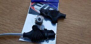 Yamaha DT RT YZ Suzuki RM PE DR Kawasaki KE KX F9 lever perch rubber cover x2