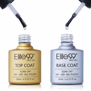 Elite99 No Wipe Top Coat Base Coat Foundation Primer Gel Nail Polish UV LED 10ML