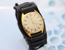 RAKETA PAKETA gold plated Au10 USSR vintage men's mechanical wristwatch