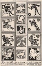 Antique tiles from Laon Museum, by W. Galsworthy Davie, Architect. Aisne 1876