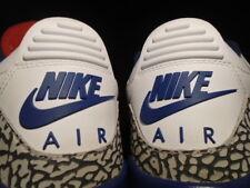2016 Nike Air Jordan III 3 Retro OG WHITE FIRE RED TRUE BLUE CEMENT GREY 10.5