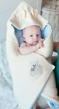 BlueberryShop Hooded Thermo Terry Swaddle Wrap Sleeping Bag  Blanket
