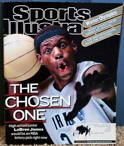 February 18, 2002 Sports Illustrated LEBRON JAMES The Chose One 1st Cover