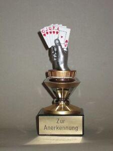 """Einzel-Pokal """"Poker/Skat"""" mit Wunschgravur (BISO)."""
