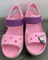 Crocs Crocband Sandal Kids Size 13 Children Kids Pink Purple