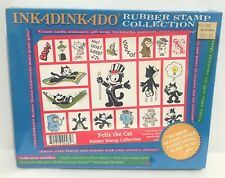 Inkadinkado FELIX THE CAT Kitty Cartoon Vintage Foam Rubber Stamps 1995