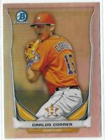2014 BOWMAN CHROME DRAFT - REFRACTOR - TOP PROSPECT - CARLOS CORREA