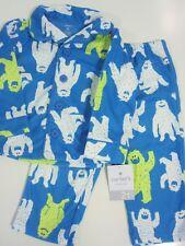 Carter's Boy Fleece Pajama Set Size 2T Abominable Snowman Blue