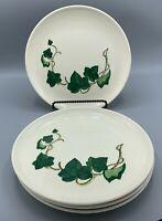 "Four Vintage Hand Painted METLOX POPPYTRAIL CALIFORNIA IVY 9 3/8"" Dinner Plates"