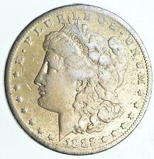 Early 1882-S Morgan Silver Dollar - 90% US Coin *394