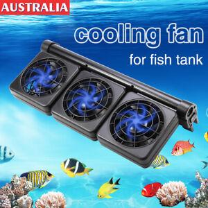 Cooling Fan Aquarium Water Tropical Marine Fish Tank Adjustable Wind Chiller 12V