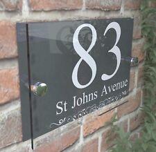 Anthracite Classic House Sign Door Number Street Address Plaque Modern Dec2WA