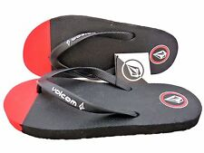 NEW VOLCOM MEN SPILLS SANDALS FLIP FLOP CREEDLERS BLACK RED US size 9  #25