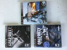 3 Pack of PS3 Video Games  COD Black Ops 2 COD Ghosts  Battlefield 4