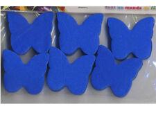 Confettis papillons en papier de soie ignifugé bleu roi 50 grammes