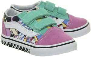 Vans Off The Wall Infant Toddler X Disney 80's Mickey Old Skool Shoes (T4, T4.5)