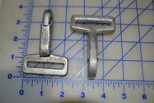 """10  tie down J hook ends metal heavy duty clips into 1/4"""" d ring 1 3/4"""" webbing"""