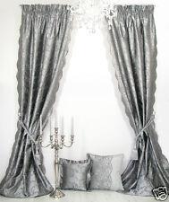 Vorhänge, 1 Seiden-Vorhang *Marie Antoinette*, Dupion-Seide, ateliergefertigt