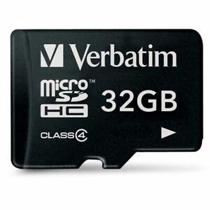 Verbatim carte MicroSD 32 Go classe 4 mémoire flash - 32 Gb - micro SDHC sd hc