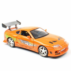 1:24 FAST & FURIOUS BRIAN'S TOYOTA SUPRA ORANGE CAR COLLECTION TOY MODEL DIECAST