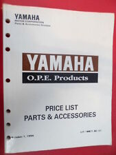Yamaha Factory Price List and Accessories Manual O.P.E. Products LIT-10021-02-51