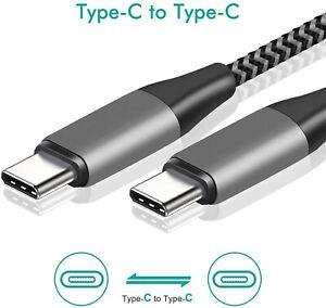 2m Super schnellladekabel 3A USB C zu USB C Typ C für S20 MacBook Ipad PD Quick