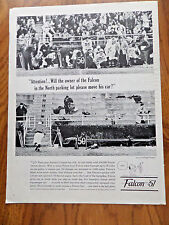 1961 Ford Falcon Ad at the Football Game