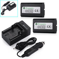 2x EN-EL1 Battery For Nikon Coolpix E880 4300 4500 4800 5700 8700 5400 + Charger
