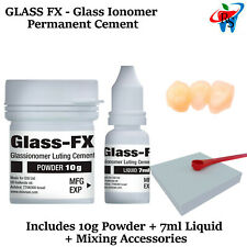 Glass Ionomer Permanent Cement Crowns Caps Teeth Emergency Home Use