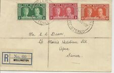 NEW ZEALAND 1935 SILVER JUBILEE SG573/5 ON COVER TO SAMOA