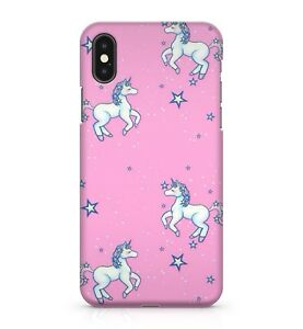 Magical Flying Unicorn Star Cluster Pattern Pink Mystic Galaxy Phone Case Cover