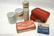 LOT ANCIENNES BOITES MEDICAMENTS GLANDENOL CUREMO TUBES AGE CONTINOLPHARMACIE