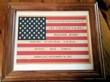 Custom Made Framed American Flag, Welcome Home Flag, Military, Soldier, Veteran