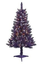 Pre-Lit 4' Tinsel Artificial Christmas Tree with Clear lights - 6 COLORS