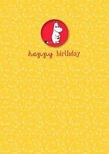 MOOMIN birthday card with a MOOMINTROLL badge