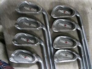 Ping Zing Red dot Iron Set 3-W Ping JZ stiff steel shafts numbers all match