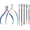 Born Pretty Chameleon Titanium Cuticle Pusher Remover Clipper Nipper Scissor New