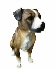 More details for large sitting staffordshire bull terrier dog statue ornament figurine bob