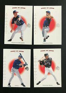Lot 2001 SP Authentic Stars Of Japan Ichiro Ohka Shinjo Hasegawa Cartes baseball