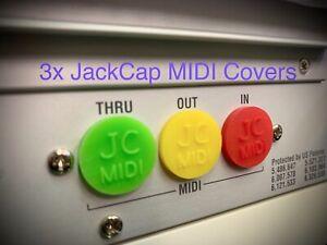 3 x New JACKCAP MIDI Plug Covers Keyboards Dust Protection JC Jack Cap JCMidi
