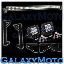 "Off Road Jeep JK Wrangler 50"" LED Light Bar Combo Beam+3"" x 3"" LED Spot+Bracket"