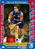 ✺Signed✺ 2016 WESTERN BULLDOGS AFL Premiers Card MARCUS BONTEMPELLI