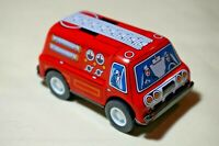 "New VINTAGE Tin Toy Sanko 3"" Friction Metal Fire Engine Truck Made in Japan"