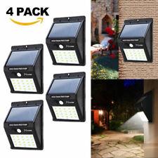 4 X Waterproof 20 LED Solar Power PIR Motion Sensor Wall Light Outdoor Garden