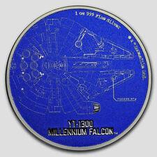 Niue -2017- Silver $2 Proof Coin- 1 OZ Star Wars- Millenium Falcon Ship!!!