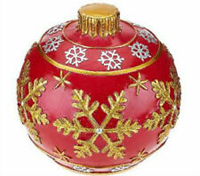 Kringle Express Outdoor Glazed Resin Ornament Flameless Candle Luminary -RED