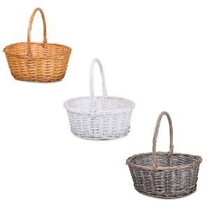 Wickerfield Handle Wicker Gift Basket, Christening Wedding Baby Christmas Hamper
