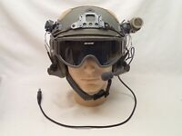 Tactical Helmet with Headset and Accessories Special Ops Display Item